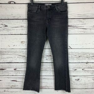 Free People High Waist Crop Straight Leg Jean